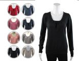 Wholesale Womens Ex Chainstore Scoop Neck Jumper